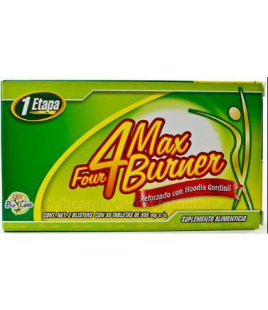 4 MAX BURNER 30 TAB 500 MG