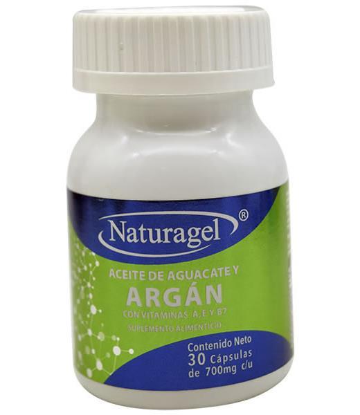 ACEITE DE AGUACATE Y ARGAN 30 CAP NATURAGEL