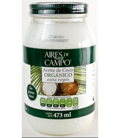 ACEITE DE COCO ORGANICO 473 ML AIRES DE CAMPO