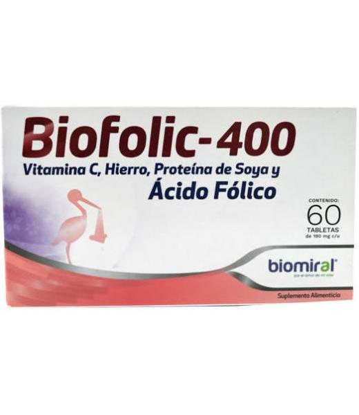 ACIDO FOLICO 60 TAB BIOMIRAL