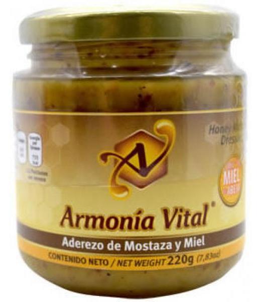 ADEREZO DE MOSTAZA Y MIEL 220 G ARMONIA VITAL