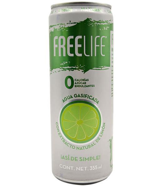 AGUA GASIFICADA LIMON 355 ML FREELIFE WATER