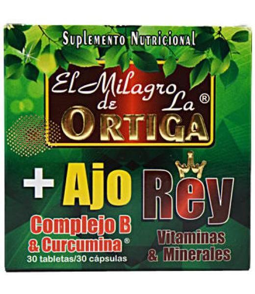 AJO REY EL MILAGRO DE LA ORTIGA 30 CAP PRETTY BEE NUTRITION