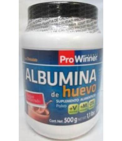 ALBUMINA DE HUEVO CHOCOLATE 500 G PRONAT