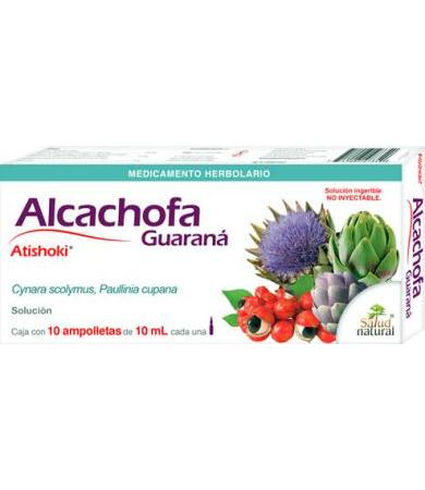 ALCACHOFA GUARANA 10 AMP CON 10 ML SALUD NATURAL