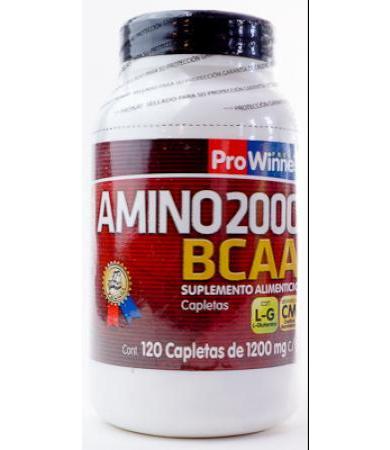 AMINO 2000 BCAA 120 CAPLETAS DE 1200 MG PROWINNER