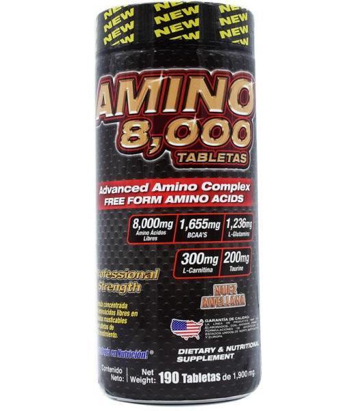 AMINO 8000 190 CAPS 1900 MG F&NT