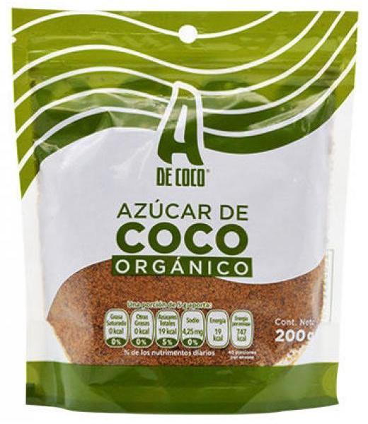 AZUCAR DE COCO 200 G ORGANICO A DE COCO