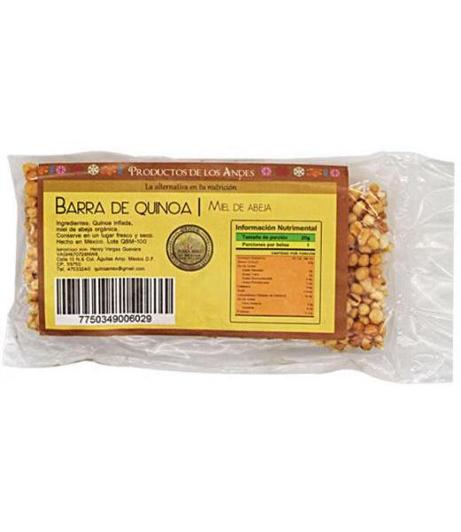 BARRA DE QUINOA Y MIEL DE ABEJA 20 G DE LOS ANDES
