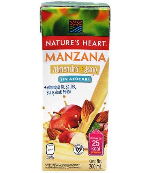 BEBIDA ALMENDRA Y JUGO MANZANA 200 ML NATURES HEART