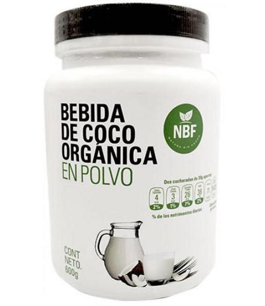 BEBIDA DE COCO ORGANICO EN POLVO 600 G NATURA BIO FOODS