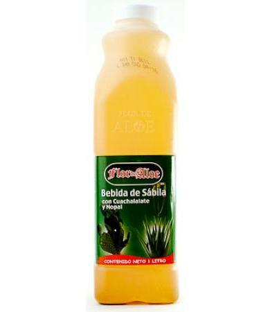 BEBIDA DE SABILA CUACHALALATE NOPAL 1 LT FLOR DE ALOE