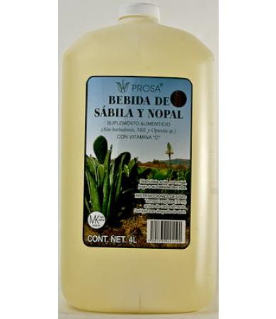 BEBIDA DE SABILA Y NOPAL PROSA 4LT
