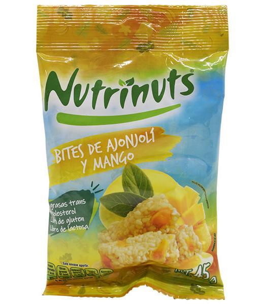 BITES DE AJONJOLI CON MANGO Y AMARANTO 45 G NUTRINUTS