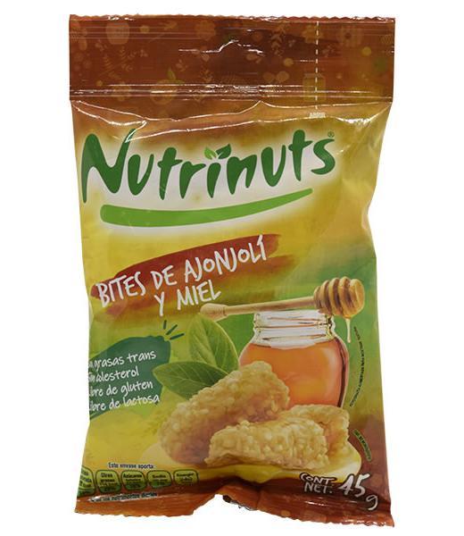 BITES DE AJONJOLI CON MIEL DE ABEJA 45 G NUTRINUTS