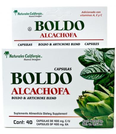 BOLDO Y ALCACHOFA 40 CAP NAT CALIFORNIA