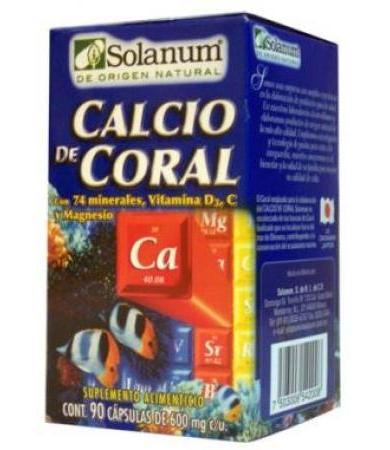 CALCIO DE CORAL 90 CAP SOLANUM