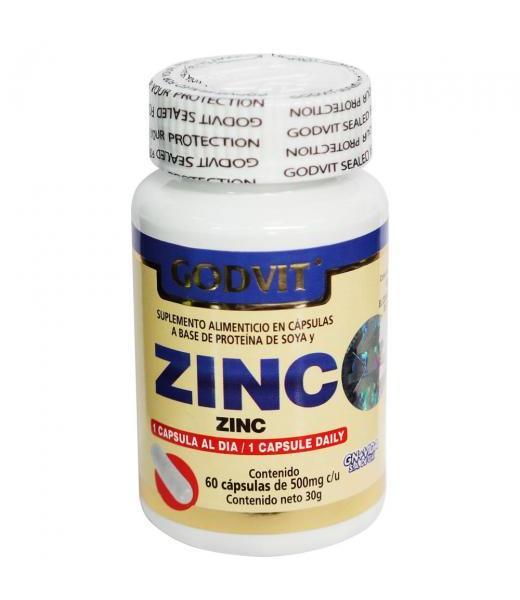 CAPS. ZINC C 60 GODVIT GN+VIDA