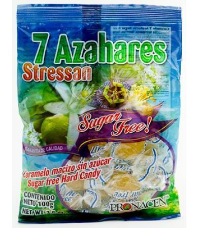 CARAMELO 7 AZAHARES SUGAR FREE 100 G PRONACEN