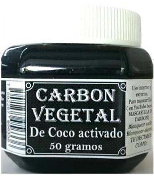 CARBON DE COCO ACTIVADO 50 G 3 GENERACIONES