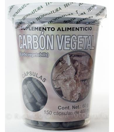 CARBON VEGETAL 150 CAP TECNONATURA