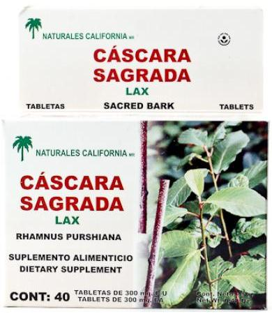 CASCARA SAGRADA 40 CAP NAT CALIFORNIA