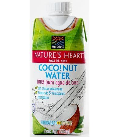 AGUA DE COCO 330 ML NATURES HEART