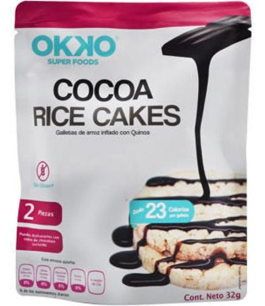 COCOA RICE CAKES 32 G OKKO