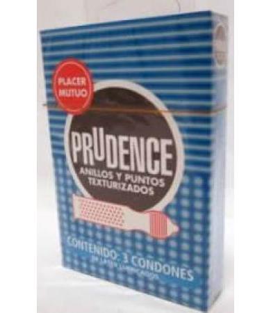 CONDONES PRUDENCE ANILLOS Y PUNTOS 3 PZA