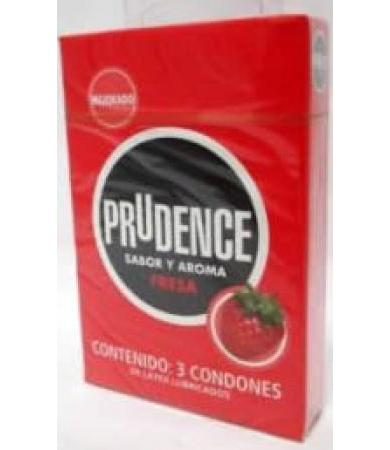 CONDONES PRUDENCE FRESA 3 PZAS