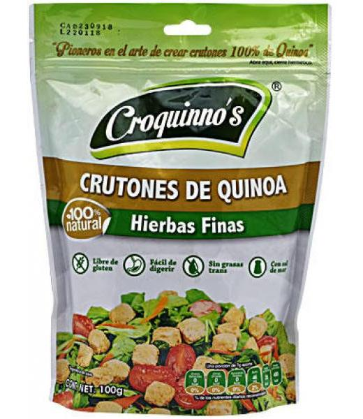 CRUTONES DE QUINOA HIERBAS FINAS 100 G CROQUINNOS