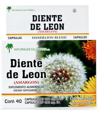 DIENTE DE LEON 40 CAP NATURALES CALIFORNIA
