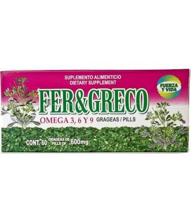 FENOGRECO 60 GRAGEAS FUERZA Y VIDA