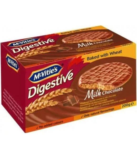 GALLETAS DE TRIGO CUBIERTAS DE CHOCO DIGESTIVE 200 G MC VITIES