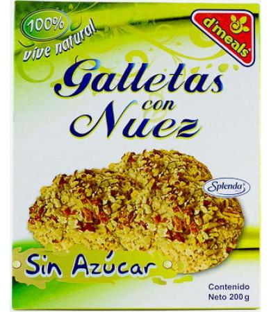 GALLETAS NATURAL CON NUEZ 200 G SENOVA