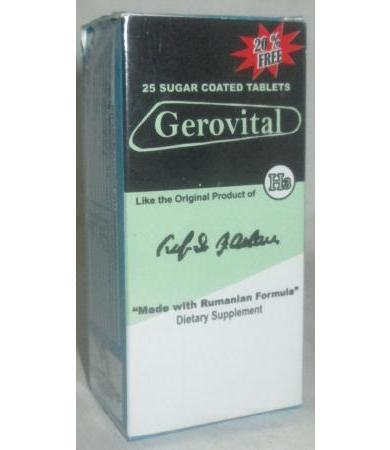 GEROVITAL 25 TABLETAS