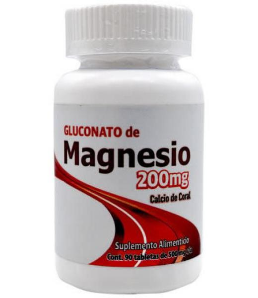 GLUCONATO DE MAGNESIO 200 MG 90 TAB DOS MUNDOS