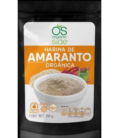 HARINA DE AMARANTO 200 G ORGANIC SIDE