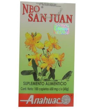HIERBA DE SAN JUAN 100 CAPLETAS ANAHUAC