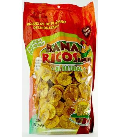HOJUELAS DE PLATANO BANA RICOS 240 G NATURAL NUTRE C 6