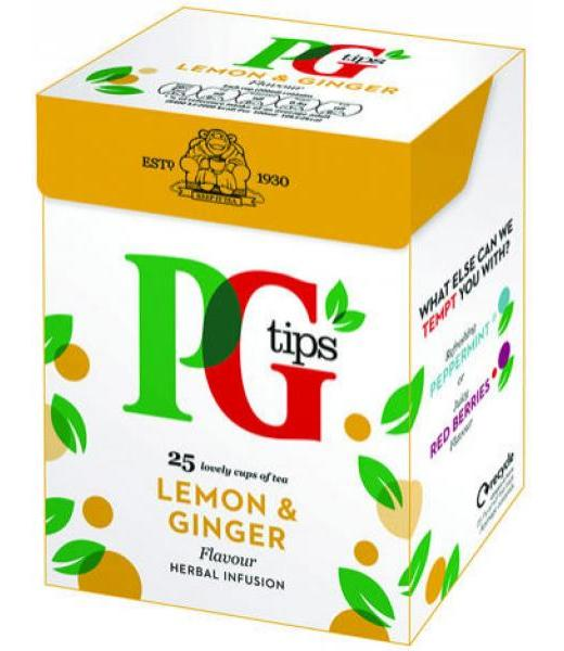 INFUSION JENGIBRE LIMON SIN CAFEINA 50 G PG TIPS