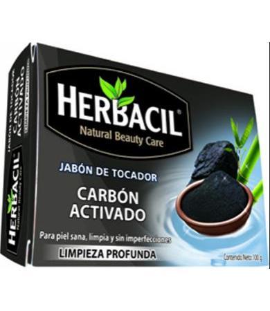 JABON DE CARBON ACTIVADO 100 G HERBACIL