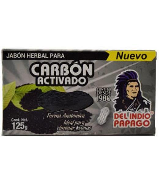 JABON NEUTRO CON CARBON ACTIVADO 120 G DEL INDIO PAPAGO