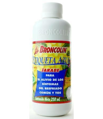 JARABE ETIQUETA AZUL 250 ML BRONCOLIN