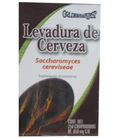 LEVADURA DE CERVEZA 250 TAB GOLDEN HARVEST