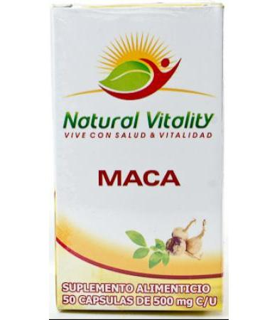 MACA 50 CAPS NATURAL VITALITY