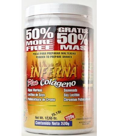 MALTEADA EL INFERNA GRASA CHOC 720 G NATURAMEX