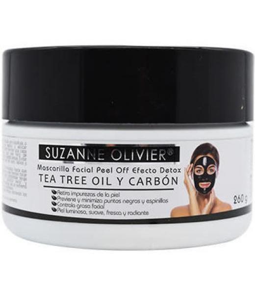MASCARILLA FACIAL TEA TREE OIL Y CARBON 260 G SUZANNE OLIVIER