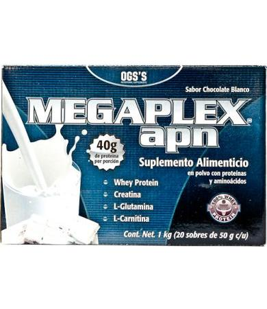 MEGAPLEX APN CHOCOLATE BLANCO 50 G OGS S P 20