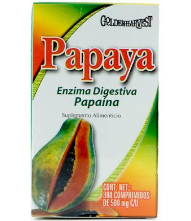 PAPAYA 300 COMPRIMIDOS GOLDEN HARVEST